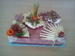 slaný dort obdelník salámový  3,350kg  30x20