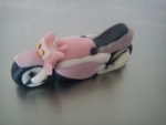 figurka marcipánová  motorka růžová