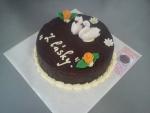 dort kulatý celý v čokoládě, labutě  č.515