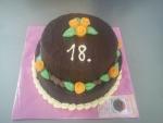 kulatý dvoupatrový dort v čokoládě  č.544