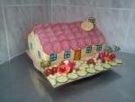 slaný dort domeček se zahrádkou  4,785kg   20x30