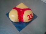 slaný dort dámský zadeček, červená tanga II