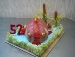 slaný dort ryba v rybníčku II