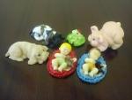 figurky marcipánové mix pejsek,žabička,prasátko,miminko
