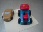 figurka marcipánové auto,traktor