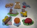 figurka marcipánová mix,kočka,pejsek,tuleň,šnek,brouček,motýl,balón,beruška,