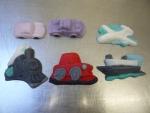 Figurka marcipánová dopravní prostředky ,auta,letadlo,vlak,loď