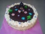 krteček dort vrch čokoláda, bok ořechč.543