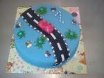 dort kulatý autíčko na silnici č.548
