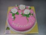 dort kulatý celý v marcipánu s velkými růžemi  č.501