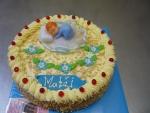 kulatý dort k narození miminka  č.522