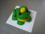 figurka marcipánová žabička