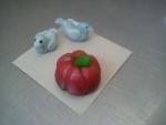 figurka marcipánová dýně,holoubci