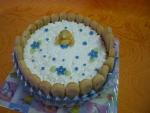 piškoty marcipánové miminko dort č.9