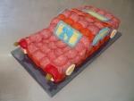 slaný dort auto salámové   3,425kg  40x19cm