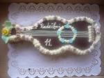 dort kytara vrch v čokoládě     č.130