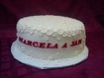 svatební dort bílý s 500 kusy malých kvítečků č.439