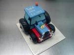 svatební dort traktor modro-červený č.438