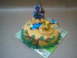 dort Lví král -lvíče Simba- a šaman opičák