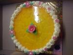 ovocný dort kulatý vrch želé + ananas   č.486