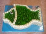ovocný dort ryba vrch želé + kiwi   č.477