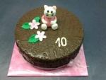 dort čokoládový - figurka Helou Kitty č. 571