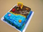dort v čokoládě - figurka Spongebob v kalhotách