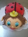 beruška s kloboučkem dort  č.234