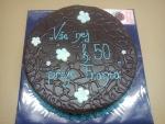 dort kulatý celý  v čokoládě s přáním