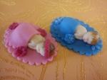 figurky marcipánové miminka na oválu