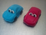 figurky marcipánové auta