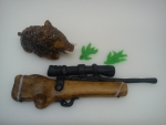 marcipánová puška ,myslivec ,divočák