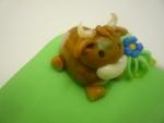 figurka marcipánová kravička malá