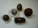 nepečená kouleořechová,kokosová,úlek ořech.,váleček v čokoládě,brambora čok. s krustou,