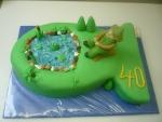 dort ryba ,rybář s rybníčkem větší II  č.711