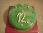 dort v zelenobílém marcipánu