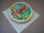 dort kulatý s letadýlkem Dusty - Prášek od Disney Planes