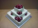 dort na zlatou svadbu 3 patrový s růžemi  č.753