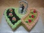 svatební dort dvojsrdce - na houpačce č.758
