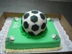fotbalový míč - dort celý v marcipánu    č.294