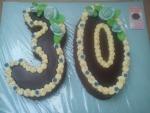 číslice dort vrch v čokoládě bok ořech