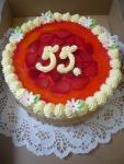 dort kulatý želé + jahody    č.265