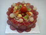 kulatý salámový dort