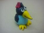 figurka marcipánová - vrána (malá čarodejnice)