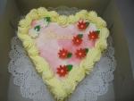 srdce dort -  vrch marcipán    č.348