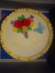 kulatý dort vrch marcipán,kvítečka
