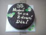 čokoládovo čokoládový dort